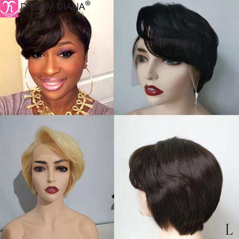 DreamDiana Short Wave Wig Malaysian Hair 150 Density 8