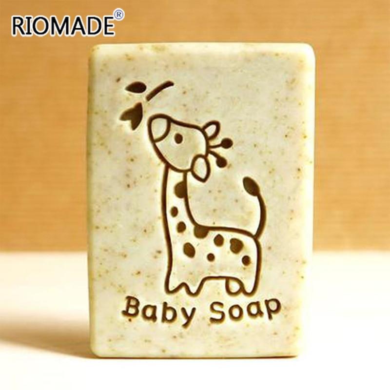 Детское Мыло ручной работы с жирафом, мультяшный животный узор, прозрачные натуральные марки для мыла, акриловый штамп для печати на заказ