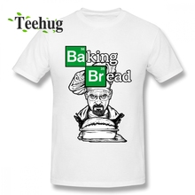New Casual Baking Bread T Shirt Man Novelty Breaking Bad Cook Heisenberg Graphic