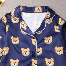 Conjuntos de Pijamas para niños y niñas camisetas de manga larga con puntos de dibujos animados con pantalones ropa de dormir para bebés pequeños Pijamas ropa de dormir