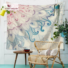 Slowdream Decor Bohemian Tapestry On Ceiling Wall Table Cloth Bed Account Thick Flannel Blanket Sofa Cover Picnic Mats Bed Sheet(China)
