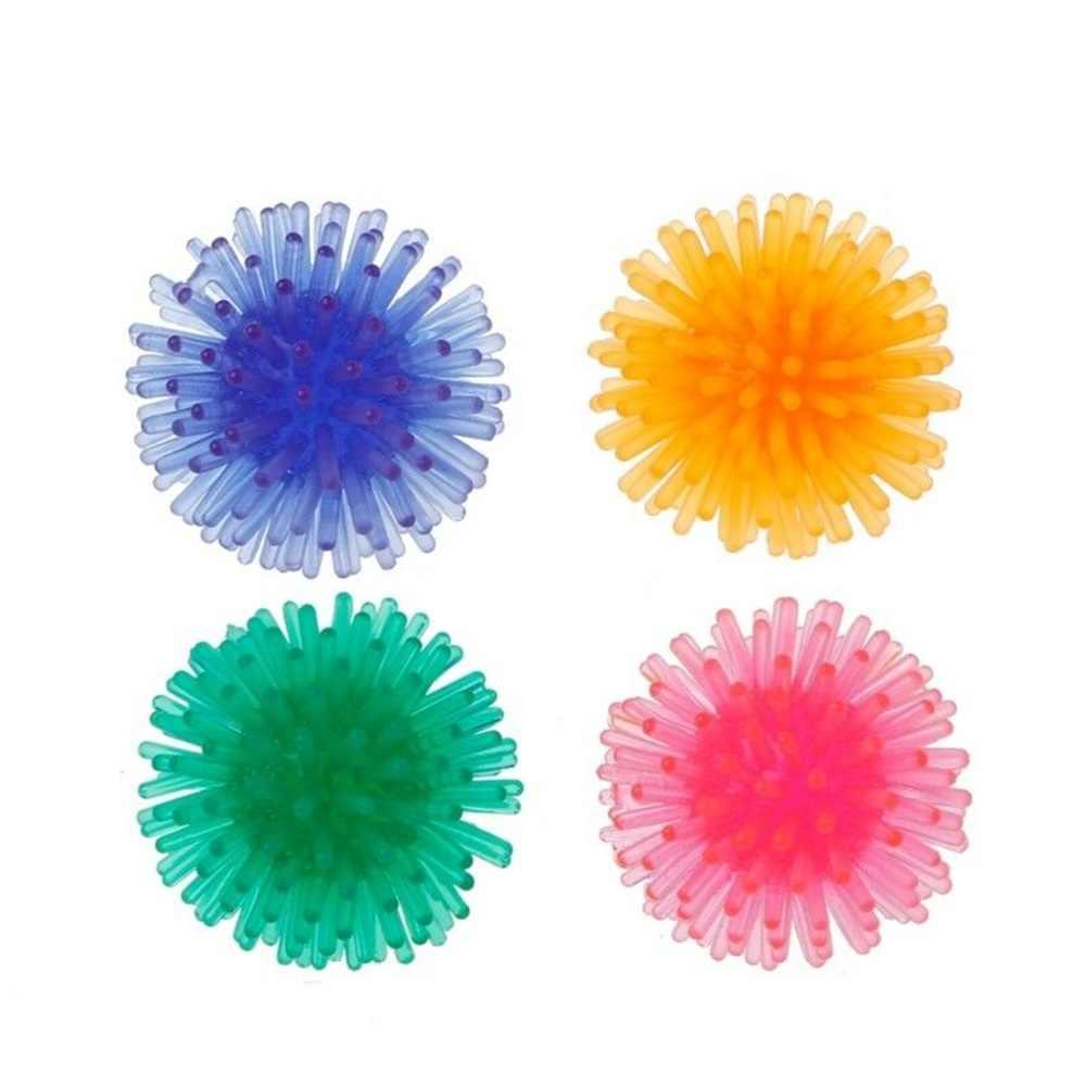 Miękkie trwałe ćwiczenia zabawki dla kota Floatable jeż piłka zabawki dla zwierząt piłka dla zwierząt domowych interaktywna zabawka Mini TPR piłka