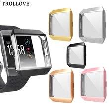 Защитный чехол на 360 градусов для Fitbit Ionic Band, чехол с покрытием, чехол для часов Fit Bit ionic, аксессуары, защитный чехол для экрана