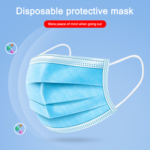 100Pcs/Pack Anti Dust Anti Smog Mask Surgical Nonwoven Disposable 3-Ply Elastic Mouth Soft Breathable