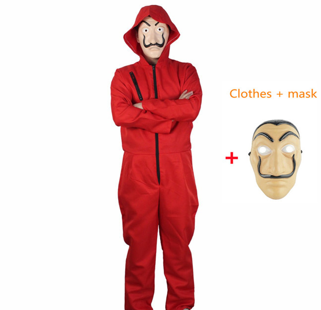 Robbery Paper House Salvador Dali Movie Costume La Casa De Papel Cosplay Halloween Party Men And Women Clothing And Mask