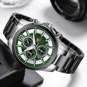 Image 4 - MINI FOCUS marque de luxe hommes montres en acier inoxydable 30m étanche multifonction Sport horloge hommes montre bracelet montre à Quartz homme
