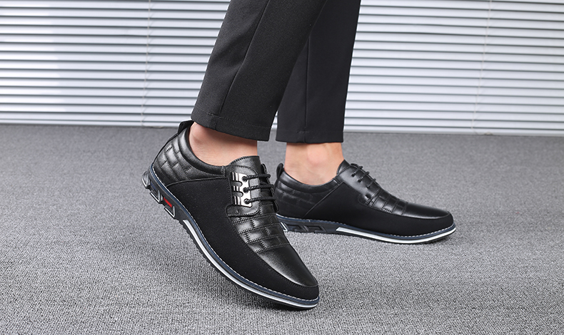 H0f267fce68b34b258467966bcb6eadfeU Design New Genuine Leather Loafers Men Moccasin Fashion Sneakers Flat Causal Men Shoes Adult Male Footwear Boat Shoes