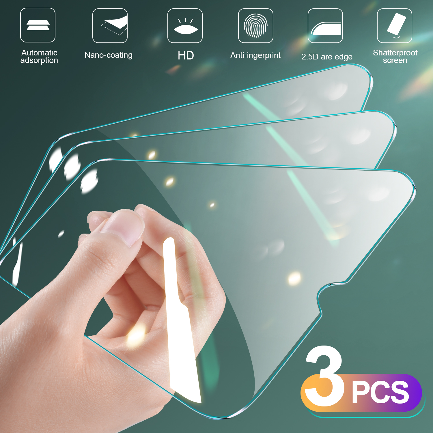 3Pcs Full Cover Glass On For Samsung Galaxy A10 A20 A40 A30 A50 Glass A01 A11 A31 A41 A51 A71 M10 M20 M30 Film Screen Protector