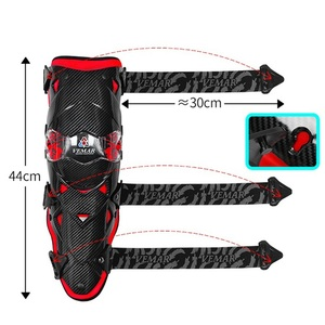 Image 4 - Motorcycle carbon fiber knee pads four seasons knight riding anti fall motorcycle off road protective gear leggings equipment