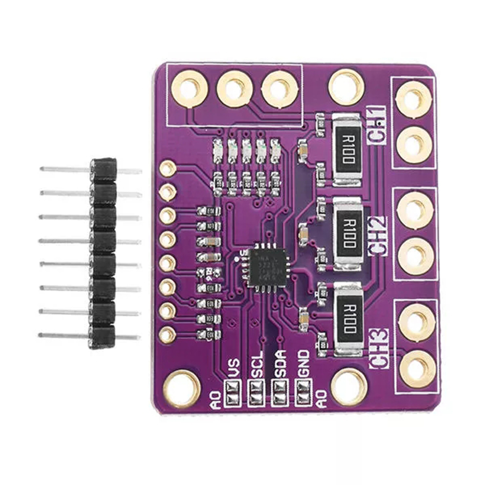 For CJMCU-3221 INA3221 Power Monitor Module Triple-way Low Side/High Side I2C Output Current Power Monitor
