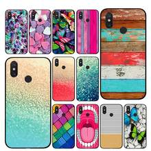 Pink Wood Planks Golden sand TPU Phone cases for Xiaomi Redmi GO 4 5 6 7 Pro 4A 4X 5A 5Plus 6A Back cover(China)