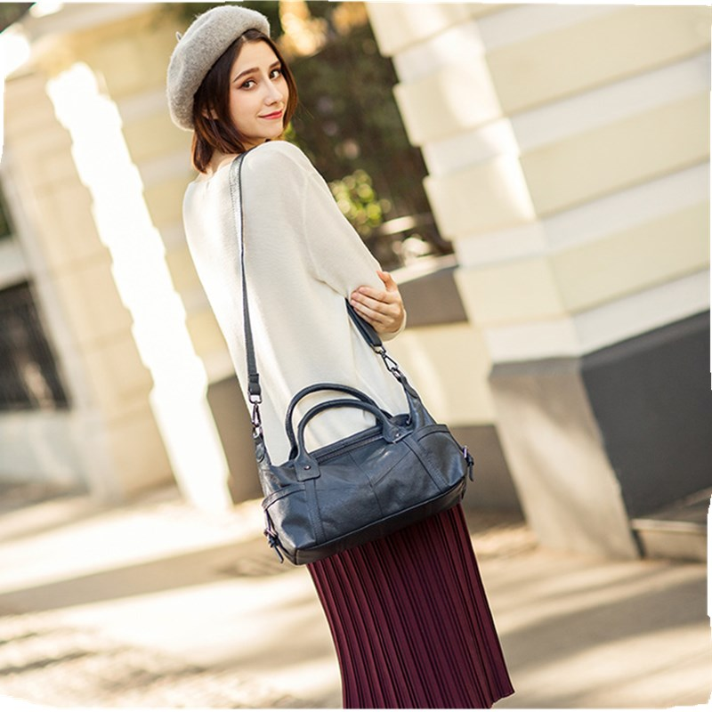 Women Genuine Leather Handbags Design Crossbody Bag Cowhide Leather Shoulder Bags European & American Style Totes