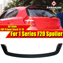 цена на AEAC Style FRP Unpainted Rear Roof Spoiler Tail For BMW F20 118i 120i 135i Rear Trunk Wing Car Styling Auto Accessories 2012-in