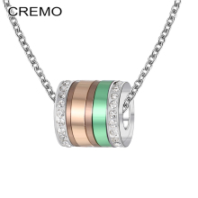 Cremo Delicate Luxury Necklace DIY Personalized Colorful Combination Pendant Charm Chain Women Jewelry