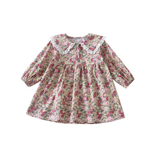 Image 5 - 春の新到着韓国スタイル綿花柄レース襟王女長袖ドレスかわいいスウィートベイ