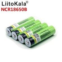 Liitokala Batería de ion de litio recargable para linterna, 18650 mah, NCR18650B 3400 3000