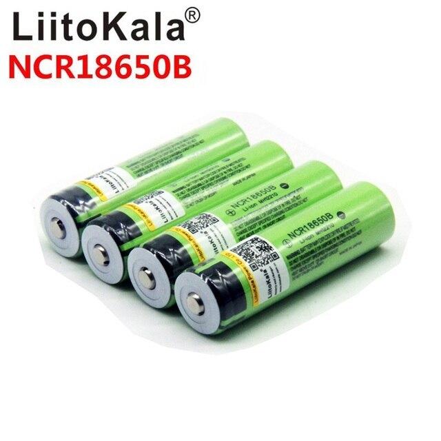 Литий ионный перезаряжаемый аккумулятор для фонарика liitokala 18650 3400 мАч, новый Оригинальный NCR18650B 3000 3400