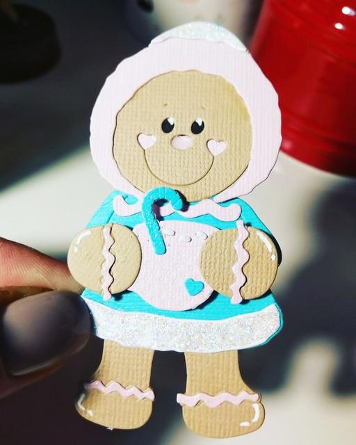 Nowy jednorożec dziewczynka Metal wykrojniki niedźwiedź Gingerbread Santa balon lalka szablon do wytłaczania DIY Scrapbooking kartki dekoracyjne
