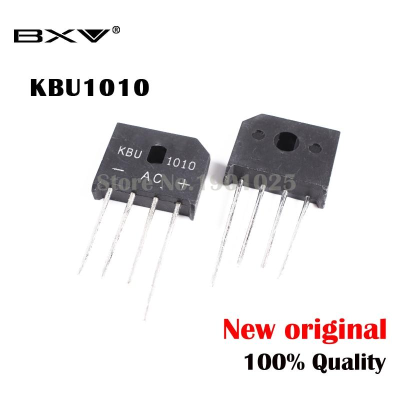 5PCS/LOT KBU1010 KBU-1010 10A 1000V ZIP Diode Bridge Rectifier Diode New And Original