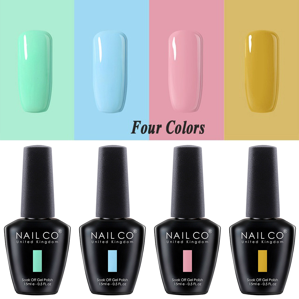 NAILCO 2/3/4 Pcs 15ml Gel Varnish Lacquer Nail Art Vernis Semi Permanant UV Gel Nail Polish Color Gelpolishes Extension Soak Off