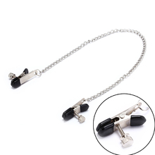 1/2Pcs Metal Butterfly Style Stainless Steel Metal Chain Nipple Milk Clips Breast Clip Slaves Nipple Clamps Exotic Accessories