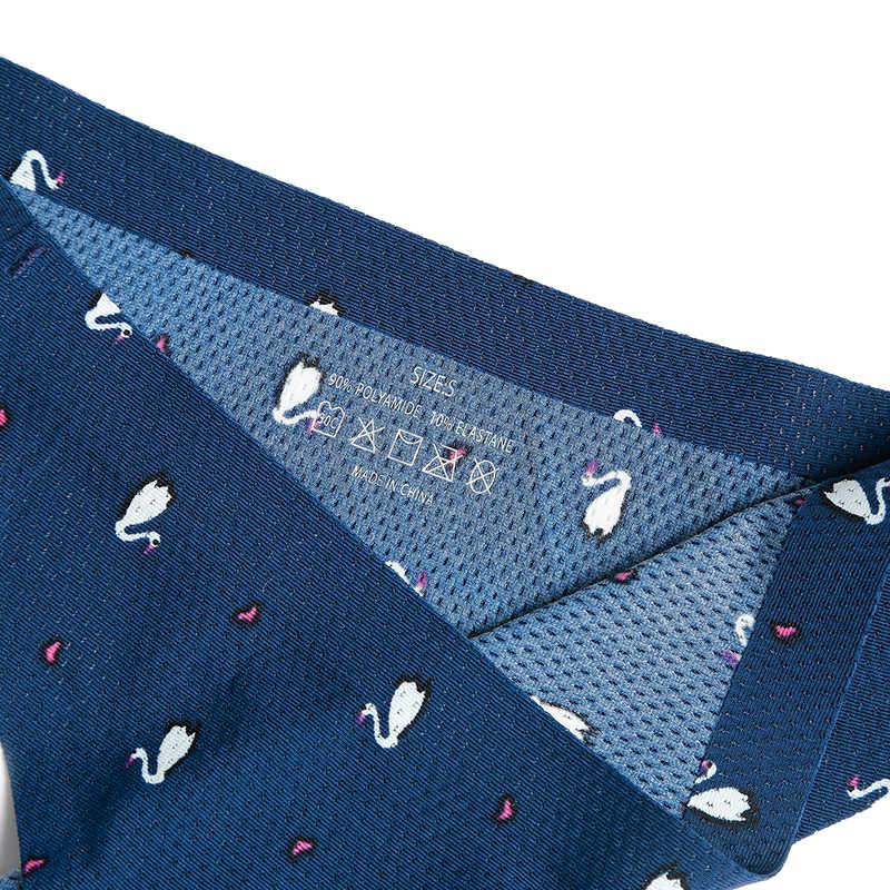 พิมพ์ผู้หญิง Thongs และ G-String กางเกงไม่มีรอยต่อชุดชั้นในเซ็กซี่หญิงชุดชั้นใน Tangas Breathable US ขนาดใหญ่ขนาด 12 สี