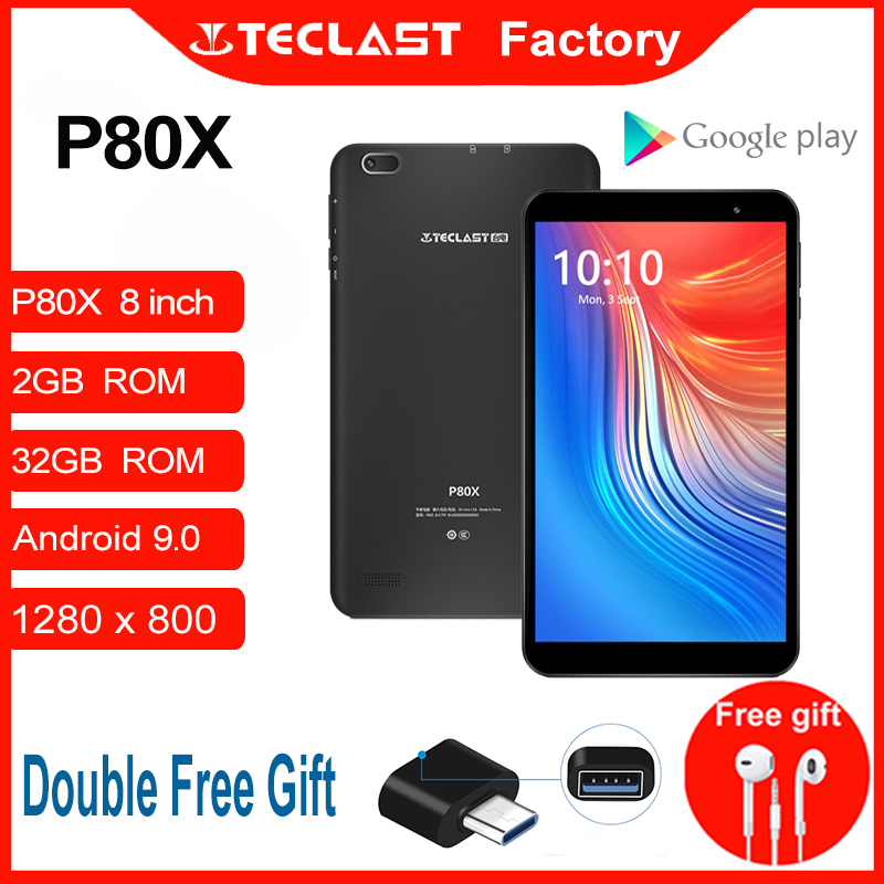 Планшеты P80X 4G Android 9,0 нетбук фаблет 8 дюймов 1280x800 SC9863A Восьмиядерный 2 Гб RAM 32 ГБ ROM планшетный ПК GPS Две камеры
