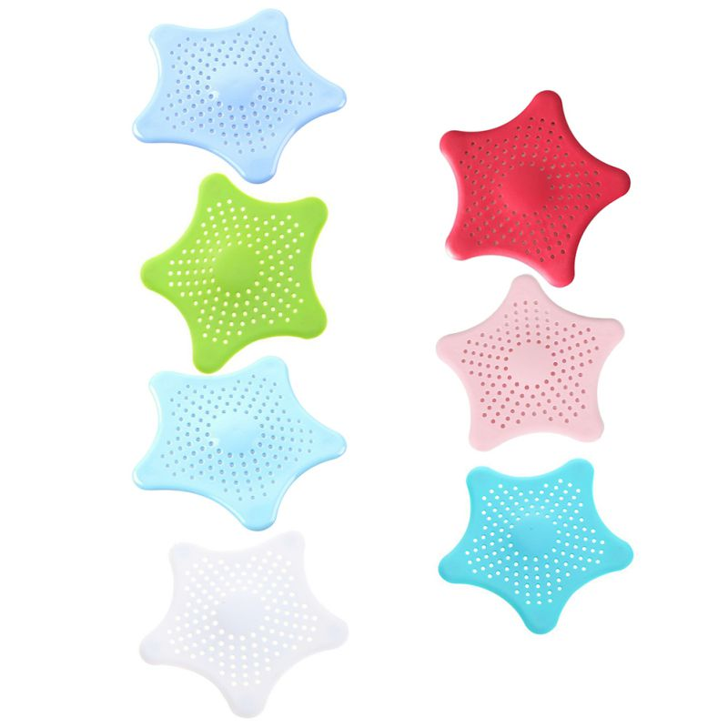 Multifunction Filter Silicone Sink Drain Plug Star Drain Cap Hair Filter Bathroom Tool Kitchen Accessories