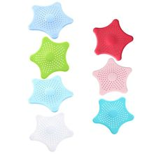 Multifunction Filter Silicone Sink Drain Plug Star Cap Hair Bathroom Tool Kitchen Accessories