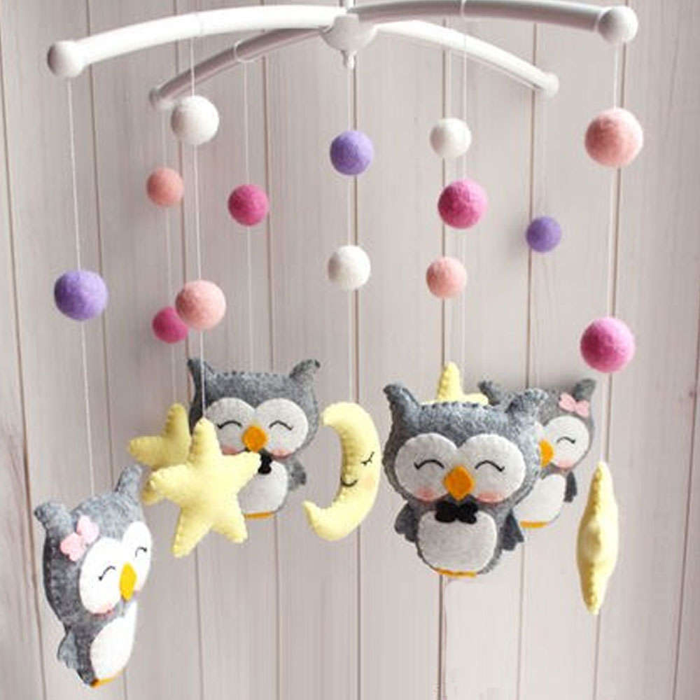 Baby Toys Rattles Set DIY Hanging Bed Bell Material Package Toy Pregnant Mom Handmade Newborn Infant Crib Mobile Bed Bell Toys