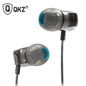 QKZ наушники в ухо наушники HiFi металлические проводные наушники стерео гарнитуры цинковый сплав шумоподавление наушники с микрофоном