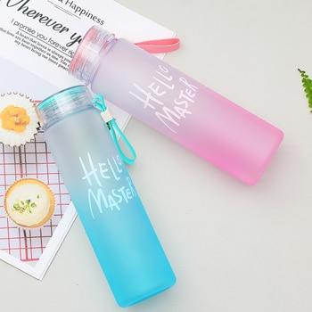 New Plastic Bottle For Water Sport 500ml Portable Rope Kids Drinkware Outdoor Leak Proof Seal Gourde Climbing Water Bottles 5