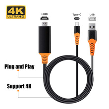 4K 60Hz USB C Type c to HDMI 4K Cable Adapter USB C HDMI Thunderbolt 3 For Macbook pro Samsung s8 s9 s10 Huawei Mate 20 P30 PRO