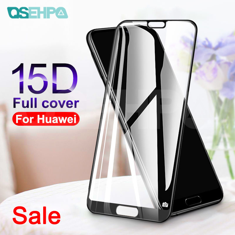 15D Full Cover Tempered Glass On The For Huawei P20 Lite P20 Pro Nova 5 5i 4 4E 3 3i 3E P Smart Screen Protector Protective Film