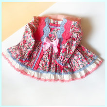 1-5 YEARS Vestido Infanti big bow Princess Floral Dress Christmas Costume kids dress 2019 for kids Girl Wedding Party Birthday Dresses(China)