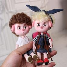Traum Fee 1/12 BJD DODO PUPPE Pigies spielzeug kleidung schuhe 14cm mini puppe joint körper ob11 Nette kinder geschenk