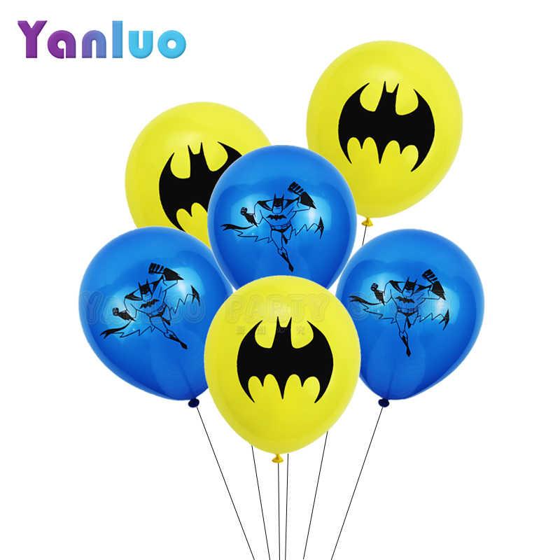 10pcs 12inch 배트맨 닌자 라텍스 풍선 소년 아이 생일 파티 장식 베이비 샤워 파티 용품 배트맨 어린이 장난감
