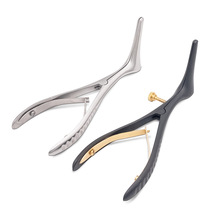 цена на Stainless steel medical nasal otorhinolaryngoscope examiner nostril opener nasal endoscope front nasal dilator