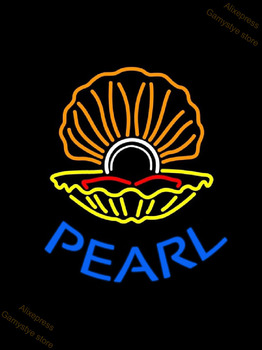 Neon Sign Blue Pearl Psychic Reading With White Border Shoe Repair Open Tanning Palm Tree Thai Massage Logo Neon Light Sign
