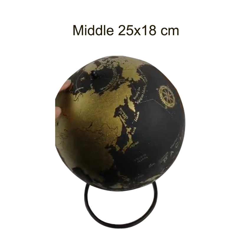 Middle Golden Cork Wood Tellurion Golden Globes Marble Maps Home Office Decoration World Map Inflatable Training Geography Map