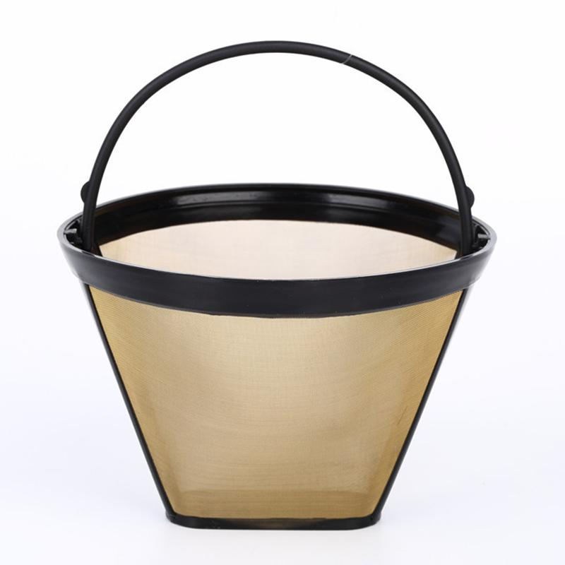 High Quality Universal Reusable Coffee Filter Basket Stainless Steel For CUISINART KRUPS Coffee Filters