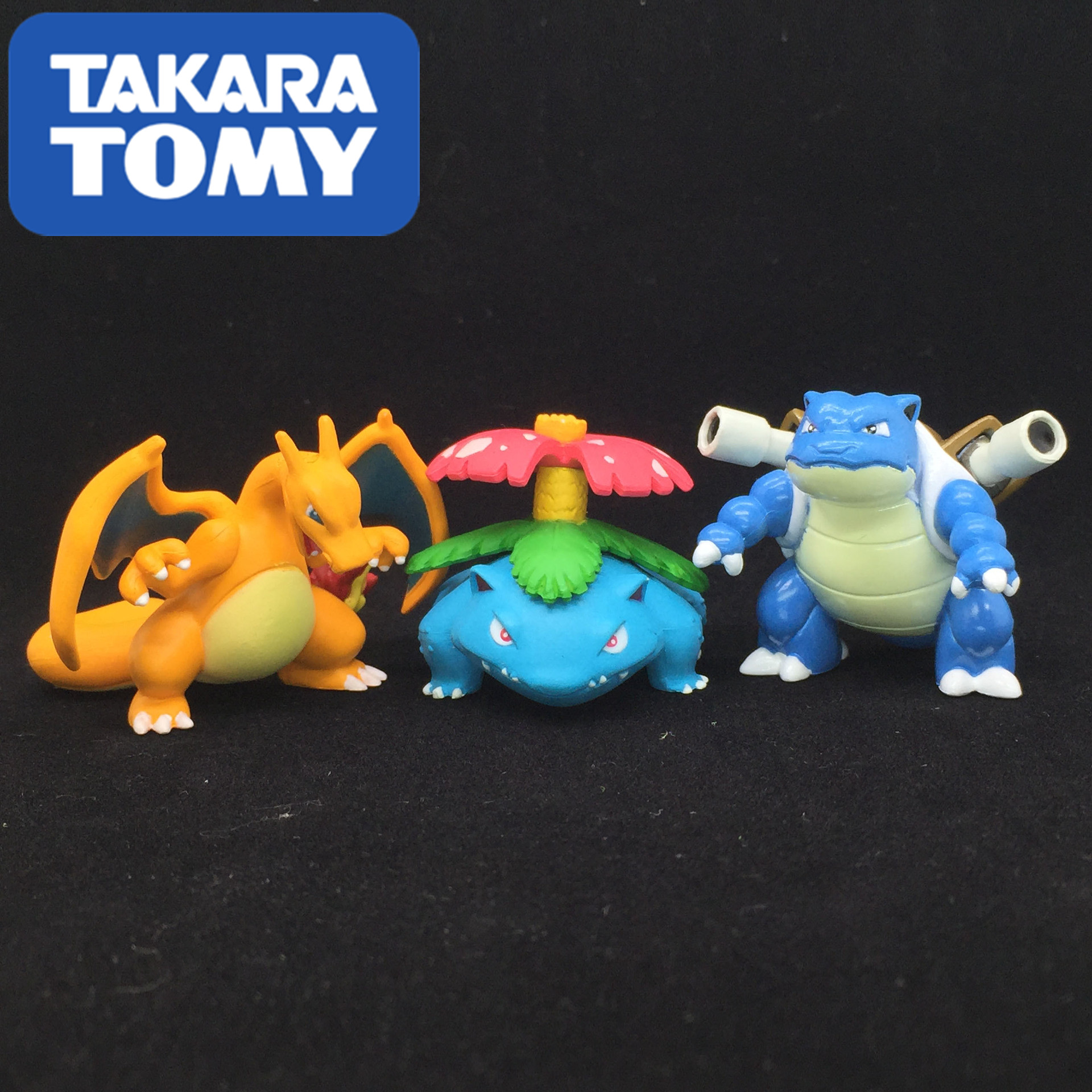 Takara Tomy Pokemon 4cm Charizard Blastoise Venusaur Mewtwo  Medium MC Ornaments Anime Action Figure Dolls Toy