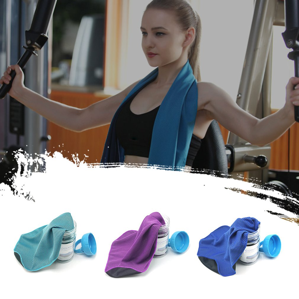 NOBRAND Practical Outdoor Cold Sense Sports Towel Ice Towel Heatstroke Cooling Artifact Gift Cold Sense Silk Ice Towel