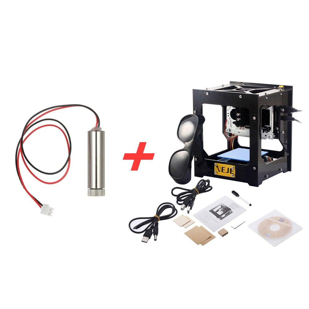 500mW Mini DIY USB Laser Engraver Cnc Router Laser Engraving Machine Laser Cutter + 500mW 405nm Blue-violet Light Laser Head