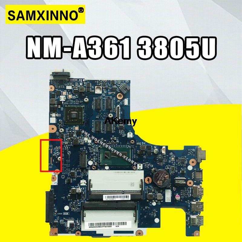 ACLU3/ACLU4 NM-A361 <font><b>motherboard</b></font> for <font><b>Lenovo</b></font> <font><b>G50</b></font>-80 <font><b>G50</b></font>-80M notebook <font><b>motherboard</b></font> CPU 3805U R5 M330 DDR3 100% test image