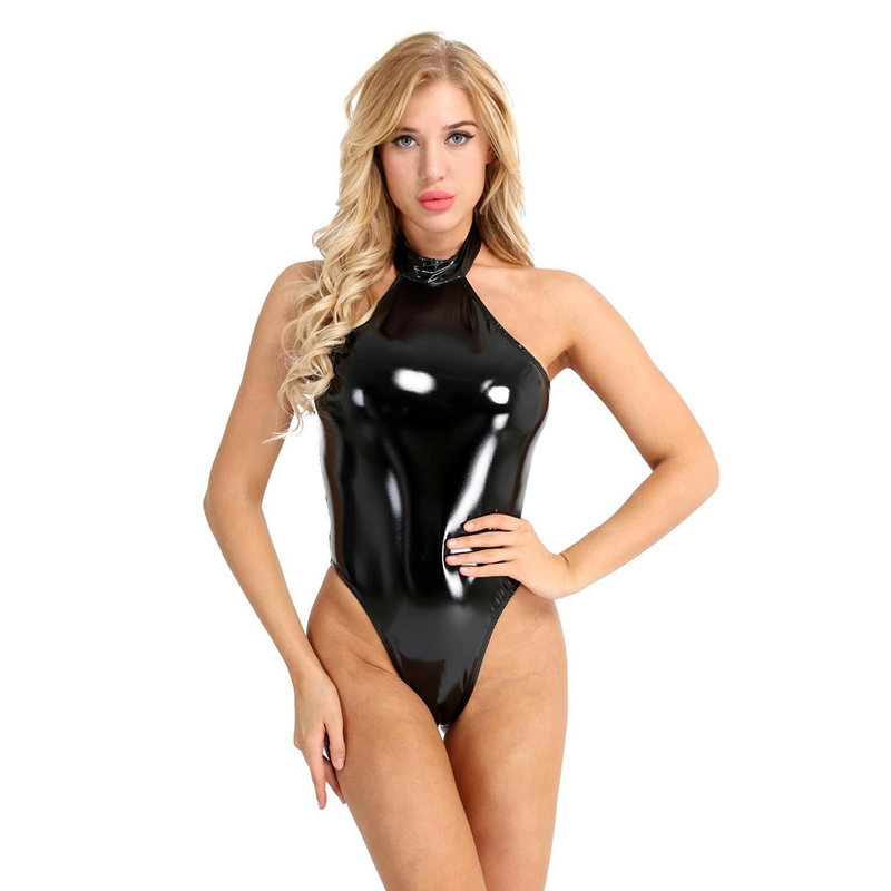 PVC Latex Erotic Sexy Lingerie for W