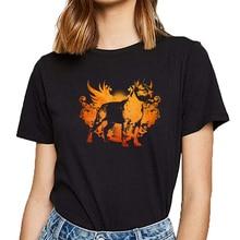Tops T Shirt Women american staffordshire terrier amstaff Design Black Print Female Tshirt