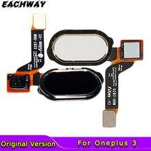 Original para Oneplus 3 botón de inicio Sensor de huella dactilar FPC Cable Flex de devolución de cinta Oneplus tres 3 A3000 3T Sensor Flex