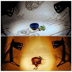 Image 5 - 2 قطعة طاولة صغيرة التصوير LED مصباح ضوء مستمر المحمولة الباردة الدافئة الإضاءة 3800 5500K للتصوير الفوتوغرافي استوديو الفيديو