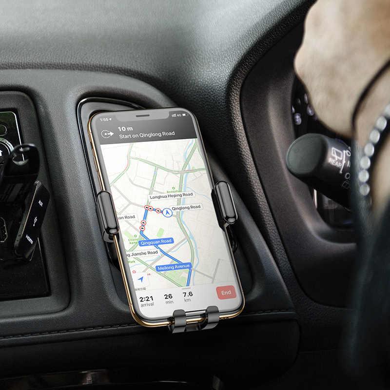 KUULAA Gravidade Suporte Móvel Suporte Do Telefone Do Carro Titular Suporte de Telefone Do Carro Montar Titular Suporte para iPhone Samsung Xiaomi